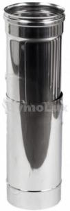 Труба-удлинитель дымоходная из нержавеющей стали 0,3-0,5 м Ø125 мм толщина 0,6 мм
