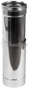 Труба-подовжувач димохідна з нержавіючої сталі 0,5-1 м Ø125 мм товщина 1 мм
