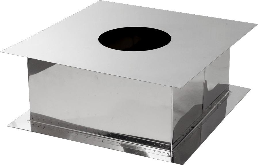 Проход через перекрытие для дымохода из нержавеющей стали Ø150 мм толщина 0,6 мм