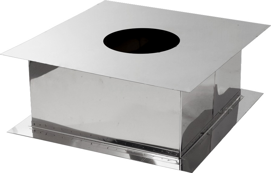 Прохід через перекриття для димоходу з нержавіючої сталі Ø190 мм товщина 0,6 мм