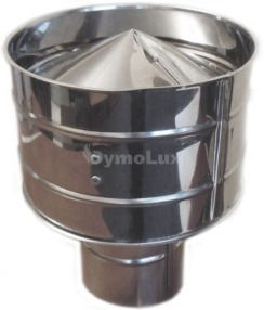 Дефлектор дымоходный из нержавеющей стали Ø130 мм толщина 0,6 мм