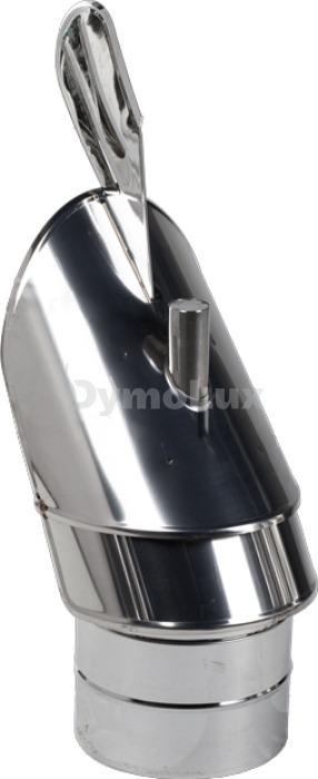 Флюгер димохідний з нержавіючої сталі Ø125 мм товщина 0,6 мм