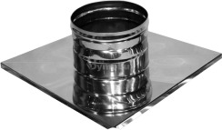 Окончание дымоходное из нержавеющей стали Ø125 мм толщина 0,6 мм