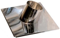 Криза димохідна 15°-30° з нержавіючої сталі Ø130 мм товщина 0,6 мм