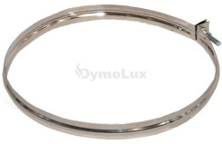 Хомут вузький для димоходу з нержавіючої сталі Ø100 мм товщина 0,6 мм