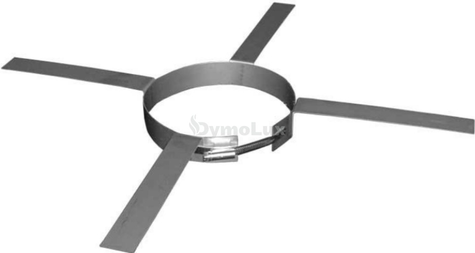 Хомут монтажний для димоходу з нержавіючої сталі Ø160 мм товщина 0,6 мм