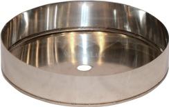 Дека димохідна з нержавіючої сталі Ø180 мм товщина 0,6 мм