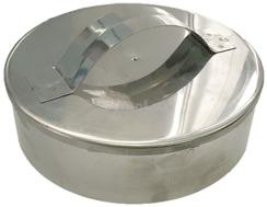 Заглушка димохідна з нержавіючої сталі Ø130 мм товщина 0,6 мм