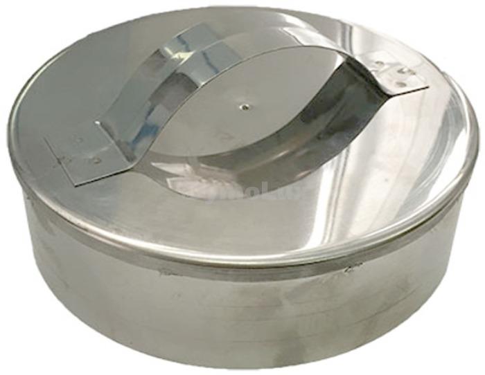 Заглушка дымоходная из нержавеющей стали Ø130 мм толщина 0,6 мм