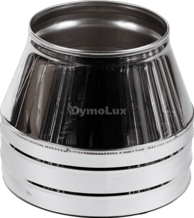 Конус димохідний двостінний з нержавіючої сталі Ø110/180 мм товщина 0,6 мм