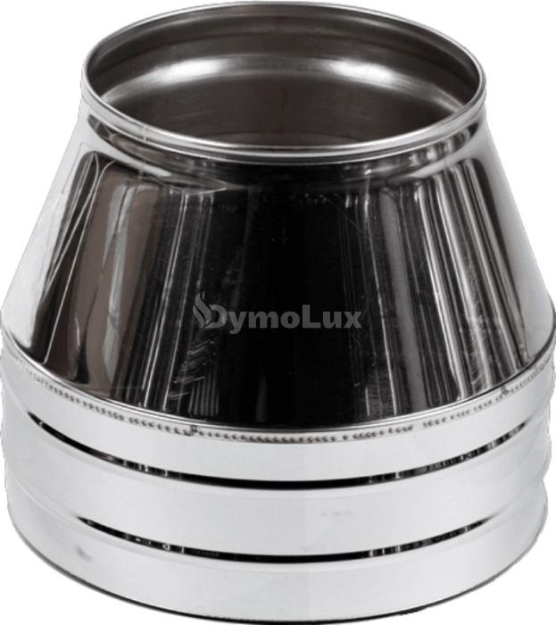 Конус димохідний двостінний з нержавіючої сталі Ø125/200 мм товщина 0,6 мм
